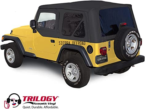 Sierra Offroad Upper Door Skins for the 1997-2006 Jeep Wrangler Sailcloth Vinyl Saddle