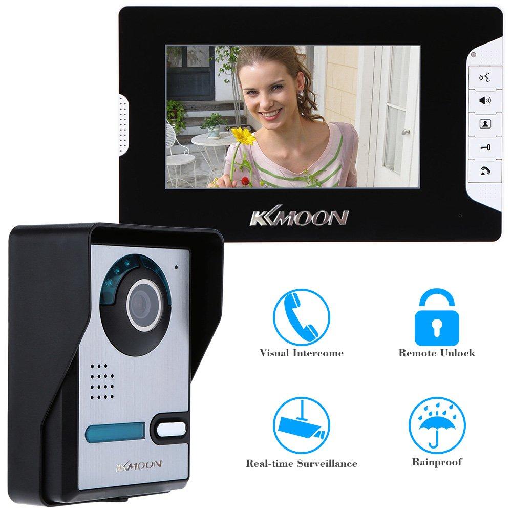 KKmoon 7' Porte vidéo TFT LCD écran téléphone débloquer IR Night Vision sécurité à la Maison étanche à la Pluie