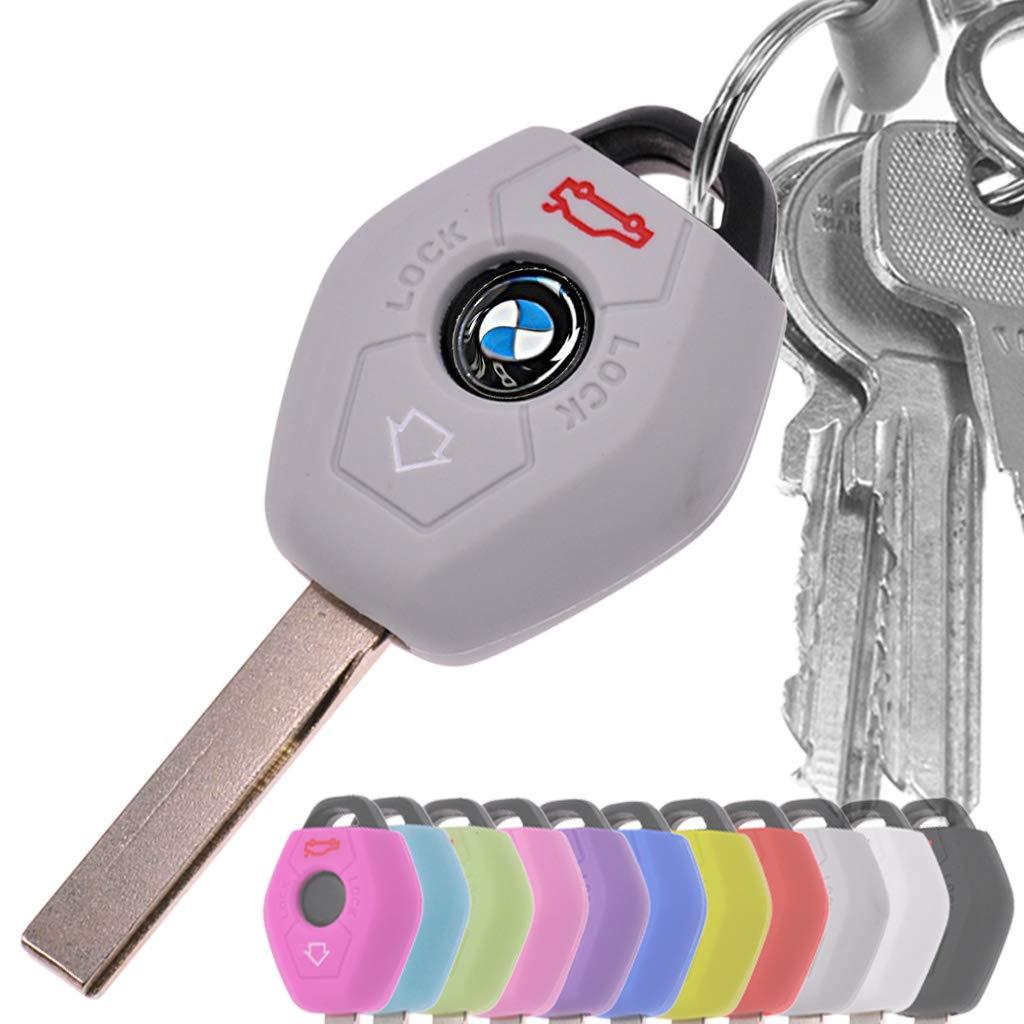 Auto Schl/üssel H/ülle Silikon Schutz Cover Schwarz f/ür BMW E46 E83 E52 E85 E86 E39 E61 E60 E53