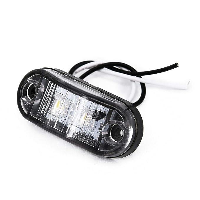 Side Marker Light Bulbs Lamps White DC 10V-30V SUV indicator wedge truck Led