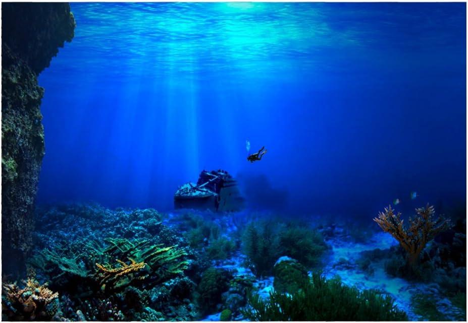 Aquarium Background HD Submarine Coral Reef Photo Wallpaper Aquarium Fish Sea Mural XXL Underwater World Wall Decoration 61*41cm