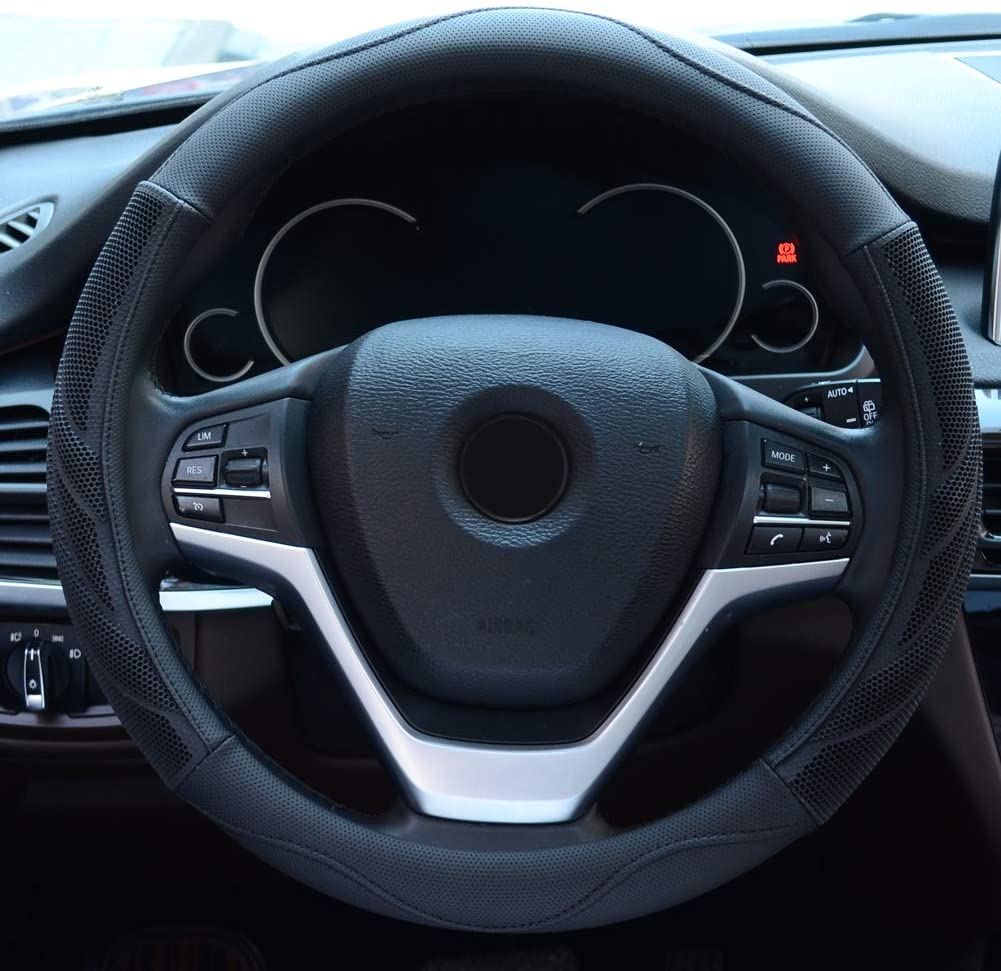 Black Steering Wheel Cover XtremeAuto/Â/® XAUH99D Blue