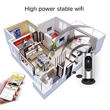 HUIGE Seguridad inalámbrica WiFi cámara 1080P 130 ° Gran Angular Soporte de Lente 64 GB Tarjeta SD/Soporte: Amazon.es: Hogar