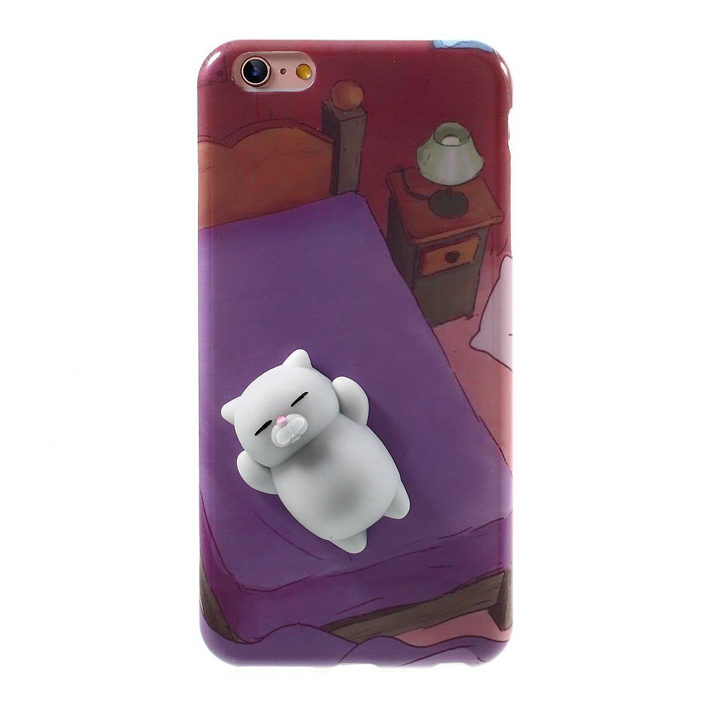 buy online bddd7 4d253 Squishy Bear iPhone 6 Case, 3D Cute Soft Silicone Poke Squishy Phone Back  Cover for iPhone 6