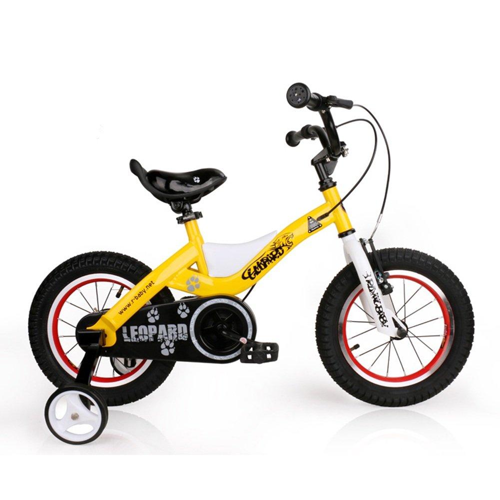 Gelb LYYBIKES Kinderrad, 16 14 18 Zoll Männer und Frauen Baby Fahrrad 3-6-8 Jahre alt Kinder Junge Baby Wagen