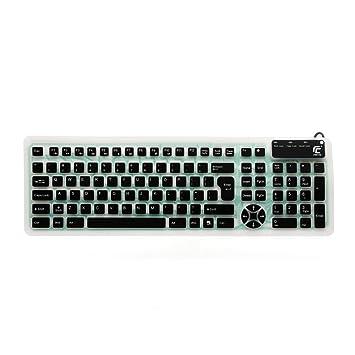 Chin FAI impermeable de silicona teclado de ordenador flexible flexible verdrahtetes USB de teclado para ordenador portátil para parte habitación de Escuela ...