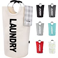 Caroeas 90L X-Large Laundry Basket (7 Colors), Waterproof Laundry Hamper, Laundry Bag with Padded Handles, Clothes…