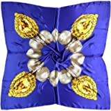 Women's 35' Satin Square Silk Like Hair Scarves and Wraps Headscarf for Sleeping