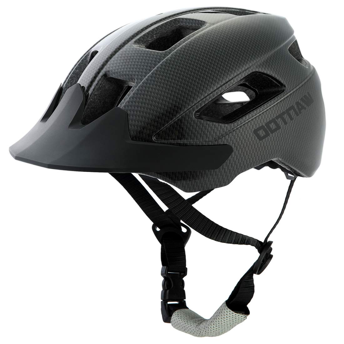 Wantdo Specialized Bike Helmet Safety Bicycle Helmet with Removable Visor Adjustable and Multi-Sports Helmet with Air Vents for Men and Women,Youth for Road Mountain Skateboard BMX Gross Black