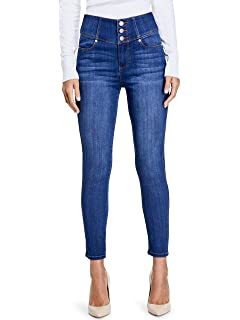 GUESS Factory Womens Nova Ultra High-Rise Curve Jeans at ...