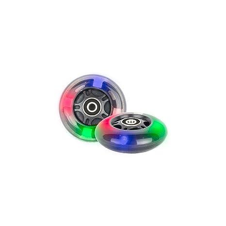 PU 80mm 2 ruedas iluminadas Inliner Skate Waveboard 3 LED ...