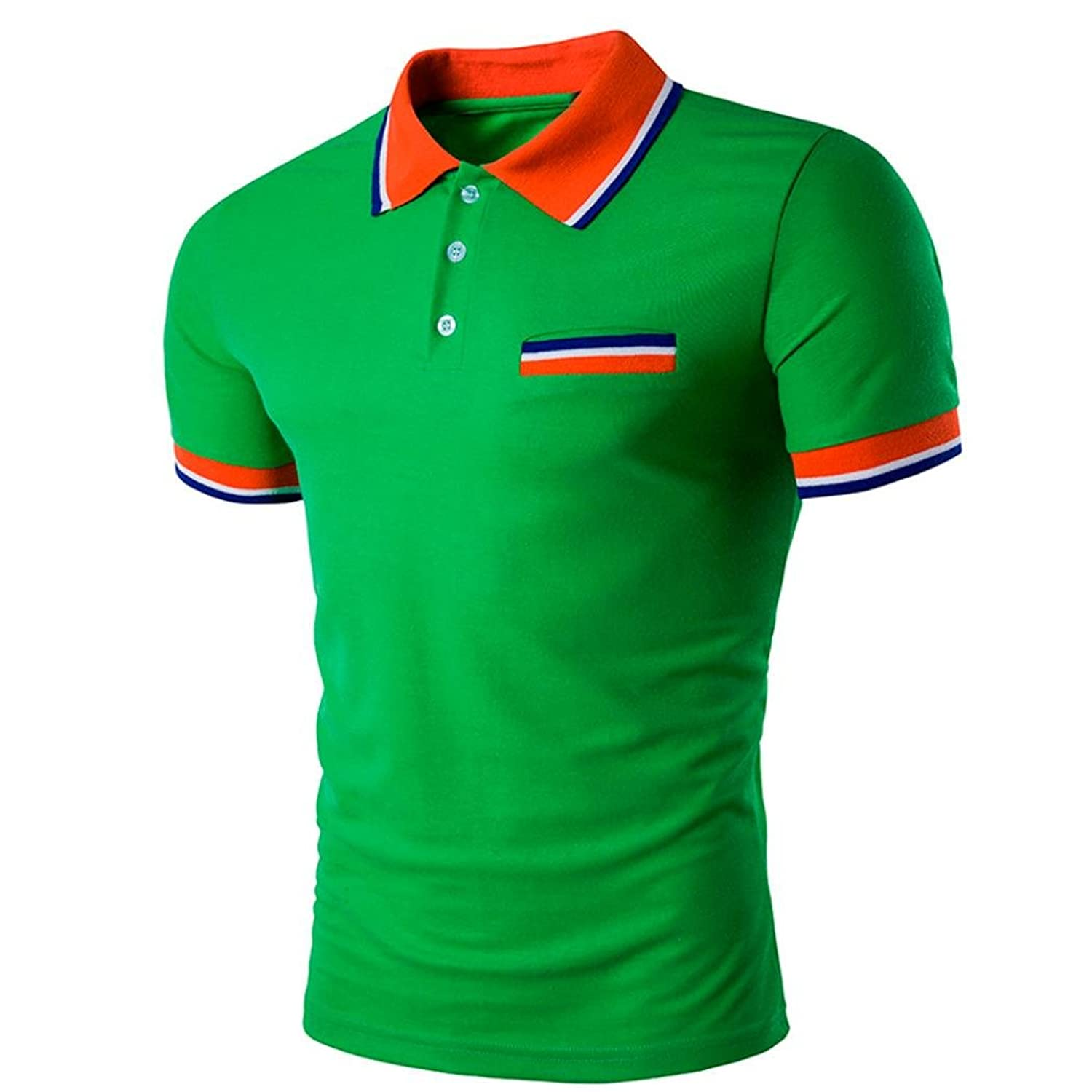 891fafa9584 ☆Polo T Shirt Mens Buttons Design Half Cardigans Short Sleeve Slim Fit  Casual SPE969. I play every game as my last game. ☆If you have any  questions