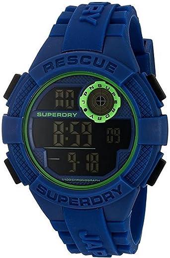 Superdry Reloj Digital para Hombre de Cuarzo con Correa en Silicona SYG193U
