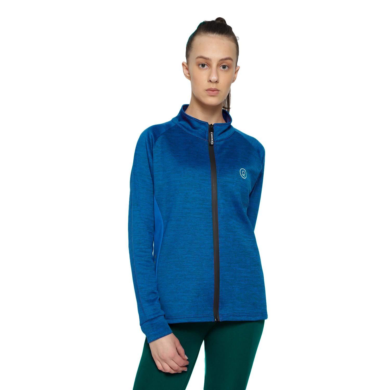 CHKOKKO Sports Gym Running Slim Fit Full Sleeves Zipper Jacket Or Casual Sweatshirts for Women