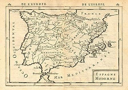 Iberia. Espagne Moderne. España y Portugal. regiones & – Mazo de ...