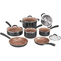 Deals on Cuisinart 54CCP-11BK 11pc Ceramica XT Non-Stick Cookware Set