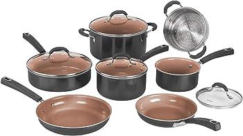 Cuisinart 54CCP-11BK 11 Pieces Ceramica XT Non-Stick Cookware Set