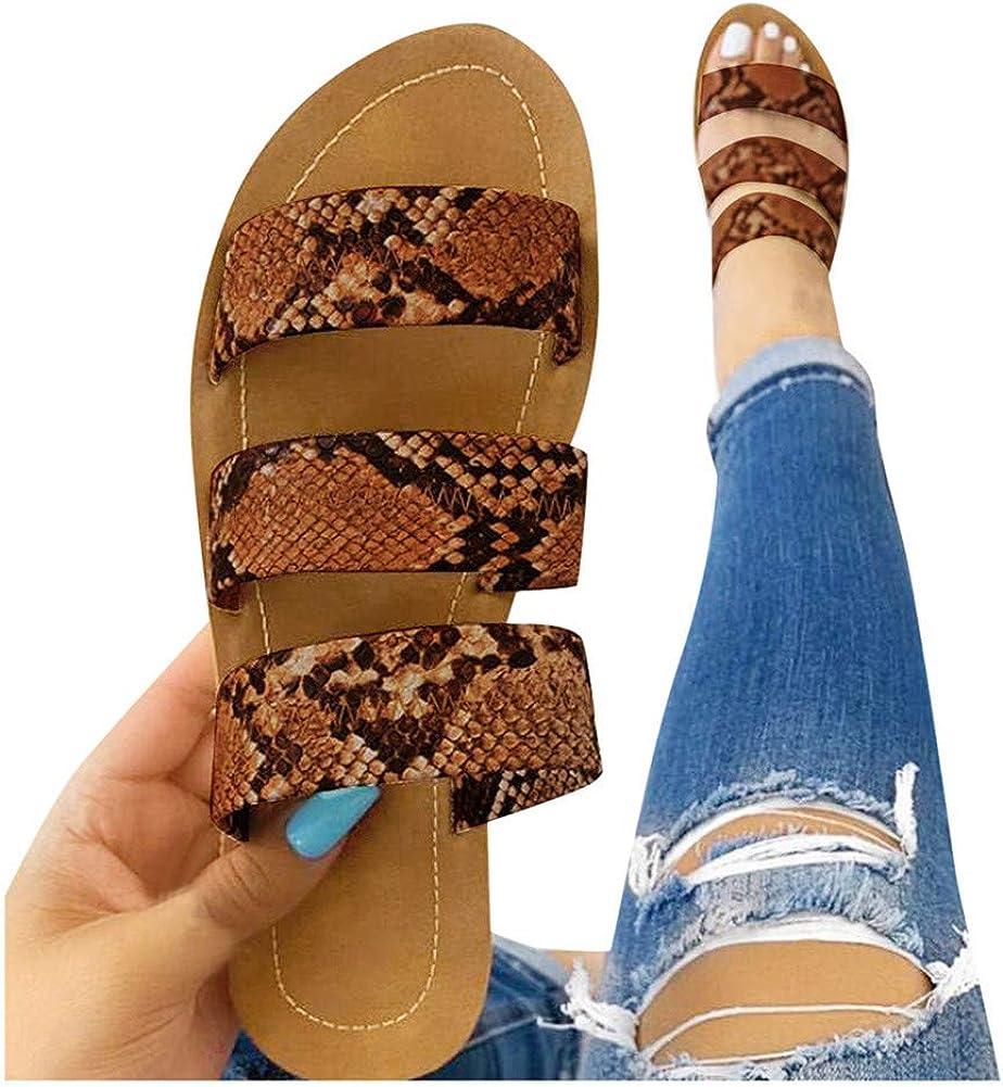 Cobra Snake Skin Beach Slippers Sandals Flip Flops
