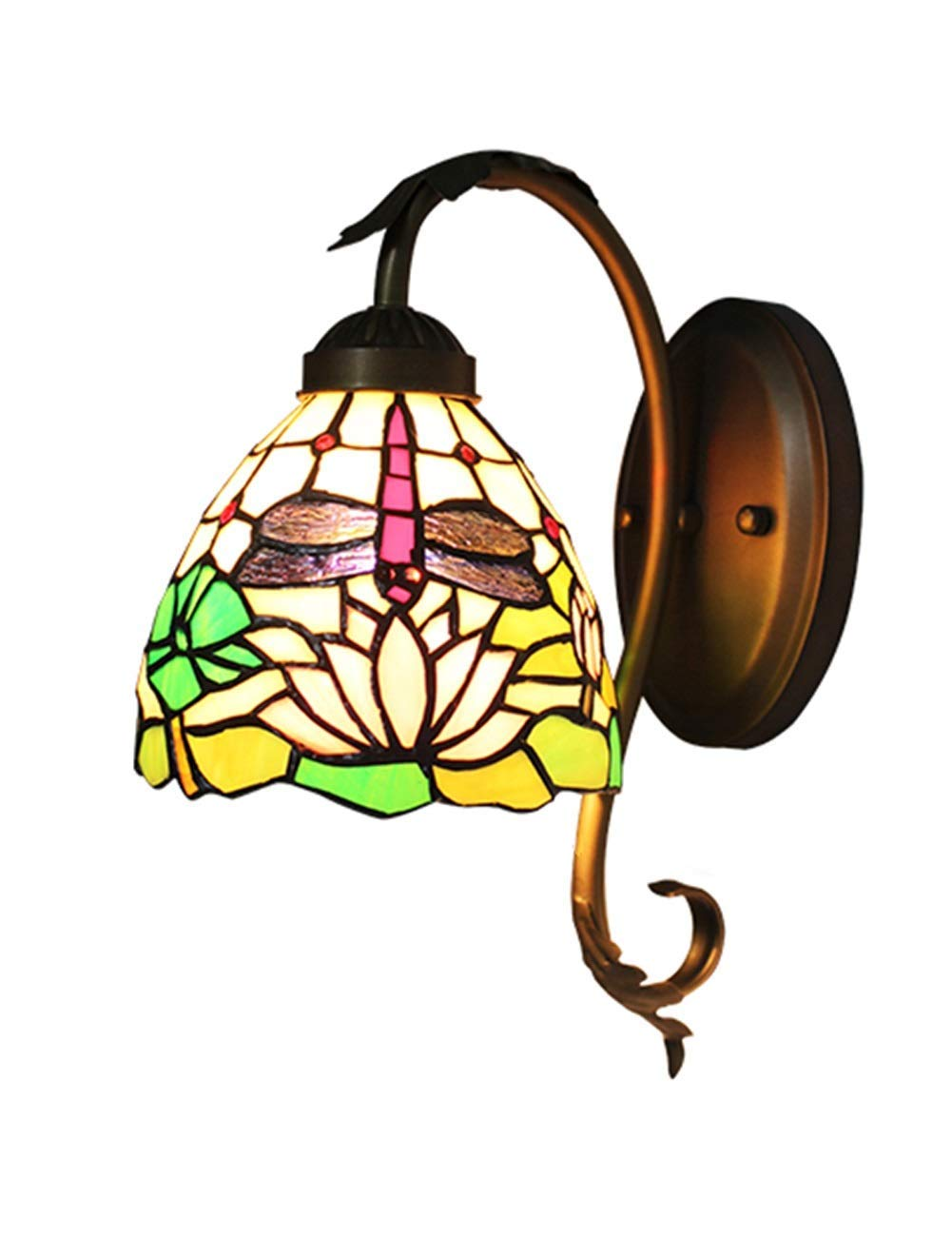 Irinay Warme Innenwandlampe Lotus Emaille Dekoration Elegante Moderne Art Schlafzimmer Nachttisch Wohnzimmer Gang Wand Lampen Badezimmer Spiegel Frontbeleuchtung (Farbe   Colour-Größe)