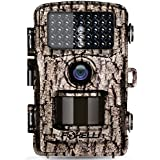 """Foxelli Trail Camera – 12MP 1080P Full HD Wildlife Scouting Hunting Camera Motion Activated Night Vision, 120° Wide Angle Lens, 42 IR LEDs 2.4"""" LCD Screen, IP66 Waterproof Game Camera"""