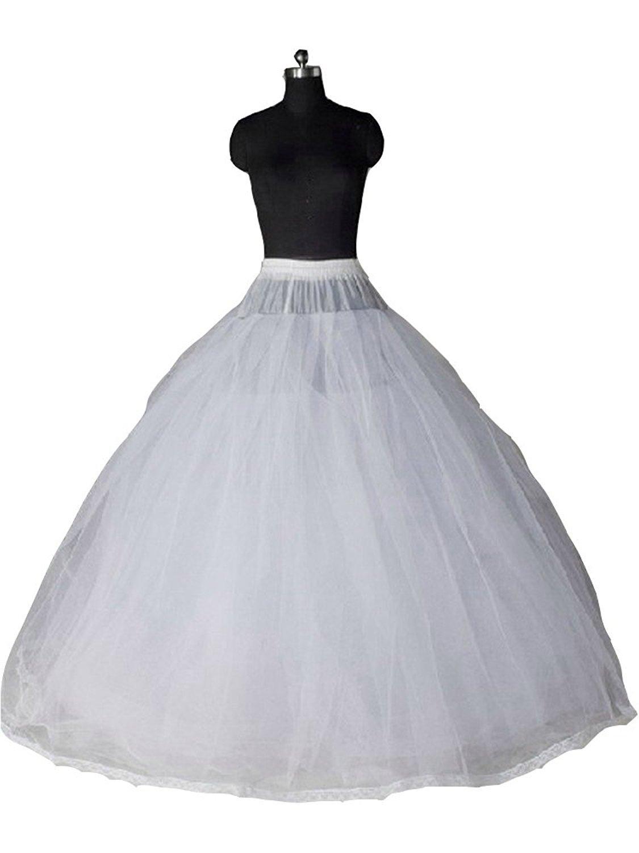 Sisuly Gauze Bridal Crinoline Petticoat for Ball Gown Wedding Dress White