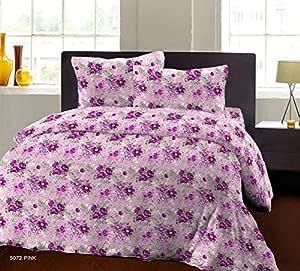 Bombay Dyeing Breeze Plus Collection Flat Double Bedsheet Set, Purple, 274x274cm
