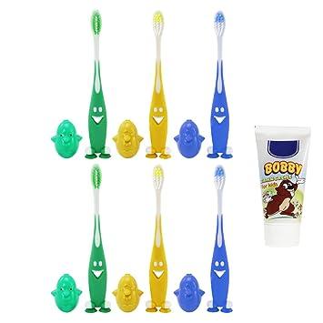 COM-FOUR® 6x medio para cepillo de dientes de mano para niños de colores
