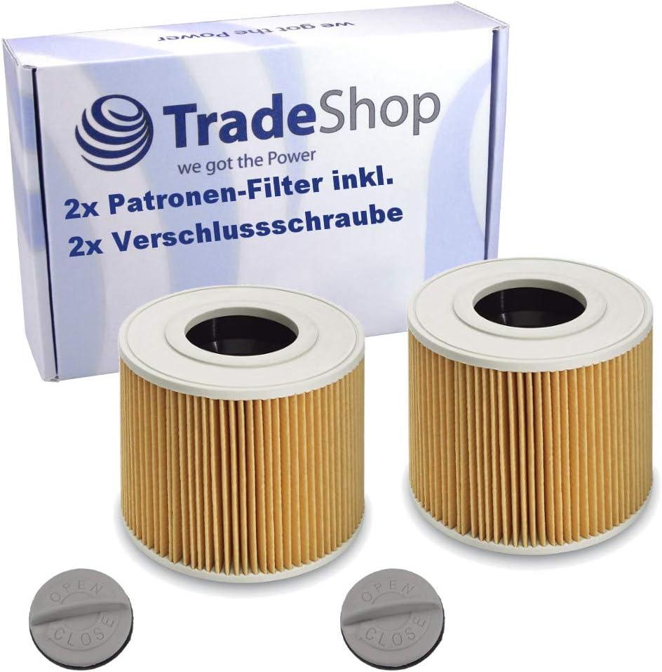 2 filtros de cartucho con tornillo de cierre para Kärcher 6.414-789 6.414-789.0 NT 27/1 ME Professional NT 48/1 TE Professional NT 27/1 ME 1.428-101.0 NT 27/1 ME Professional 1.428-106.0: Amazon.es: Hogar