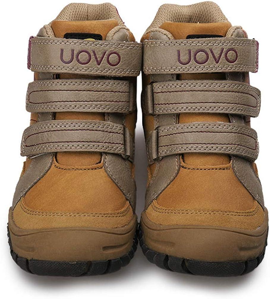 Zapatos de Excursionismo para ni/ños Ni/ños Al Aire Libre Sujetador de Cuero Senderismo Zapatillas de Deporte Oto/ño Invierno Ni/ños Zapatillas de Deporte
