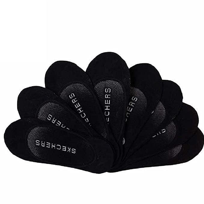 c60c9cea431d Skechers Ladies Liner Seamless Toe Non Slip Heel Grip 8-Pair (Black ...