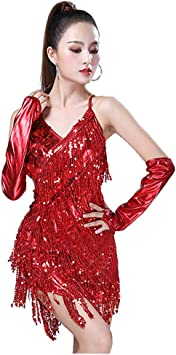 Tenthree Latino Baile Borla Vestidos Disfraces Mujer - Mujeres ...