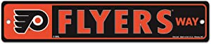 "WinCraft NHL Philadelphia Flyers 27872010 Street/Zone Sign, 4.5"" x 17"""