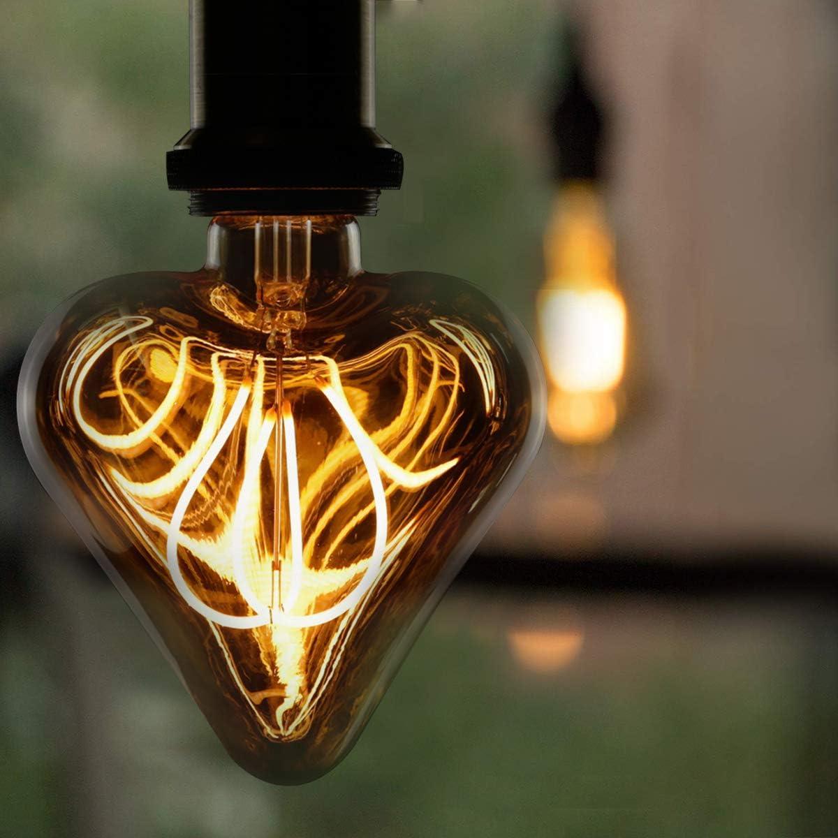 6X Edison Gl/ühbirne LED LED Filament Kerzenlampe Warmwei/ß Antike Nostalgie Beleuchtung im Haus Caf/é Bar Restaurant Nicht Dimmbar GBLY Vintage Gl/ühbirne Kronleuchter in Kerzenform mit E14-Sockel