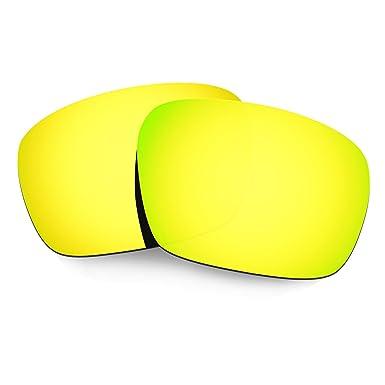 dbdbacd133c Hkuco Mens Replacement Lenses For Oakley Badman Sunglasses 24K Gold  Polarized