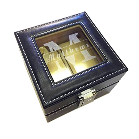 Amazoncom Engraved Watch Box Watch Case Best Man Groomsman Groom