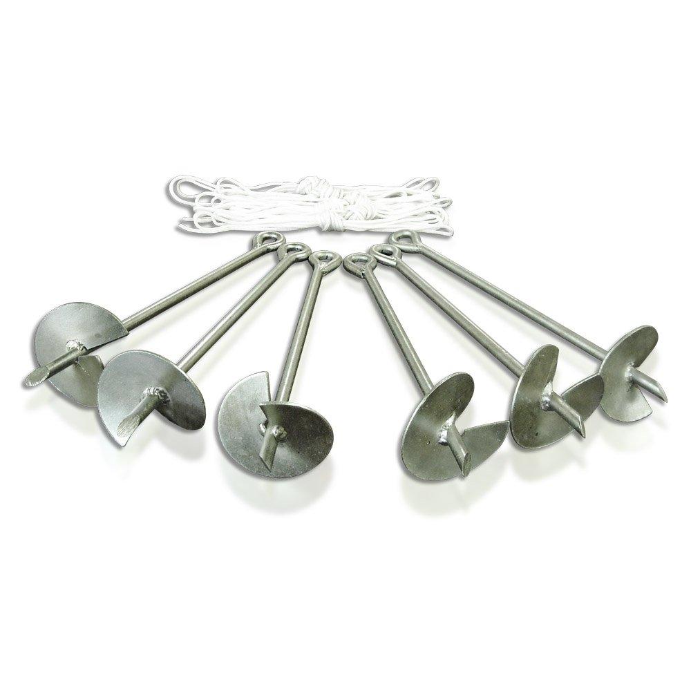 Caravan Canopy Domain Carport Anchor System, Set of 6 Anchors, Metallic
