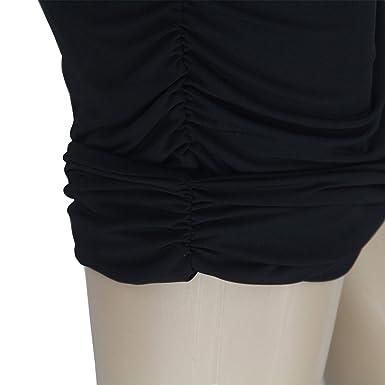 👗 Falda Mujer Vestido Ajustado de Fiesta de Noche Sin Mangas de Un Hombro Party Dress: Amazon.es: Ropa y accesorios