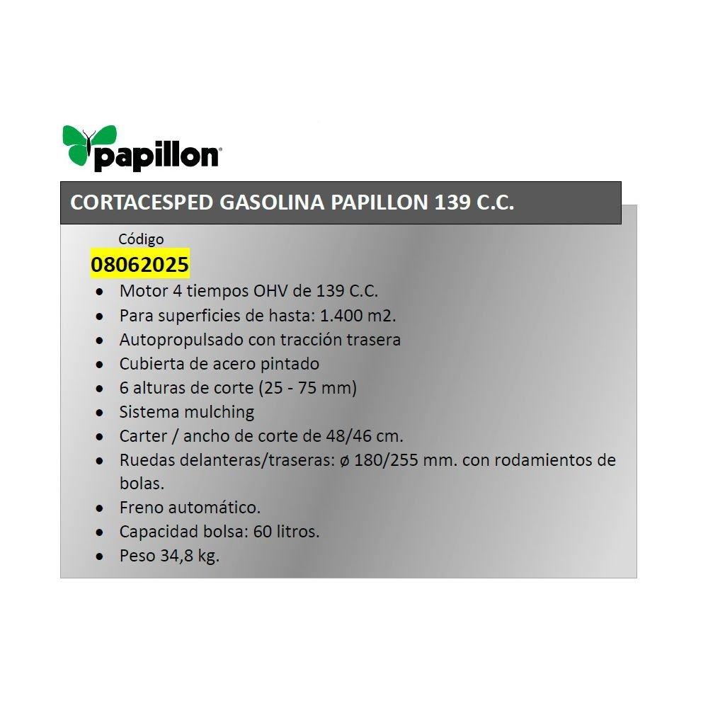 Cortacesped Gasolina Papillon 139 C.C. Autopropulsado ...