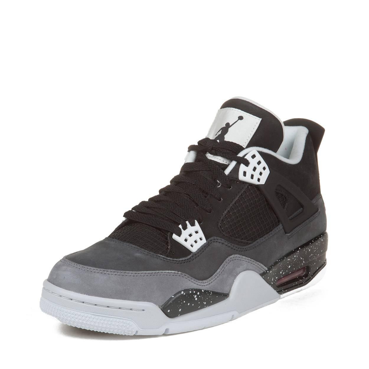 ef3c9169e57f Galleon - NIKE Mens Air Jordan 4 Retro Fear Pack Black Cool Grey Suede  Basketball Shoes Size 10.5