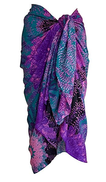 Sarongs Soft 100% Cotton Print Sarong Womens Pareo Swim Beach Coverup