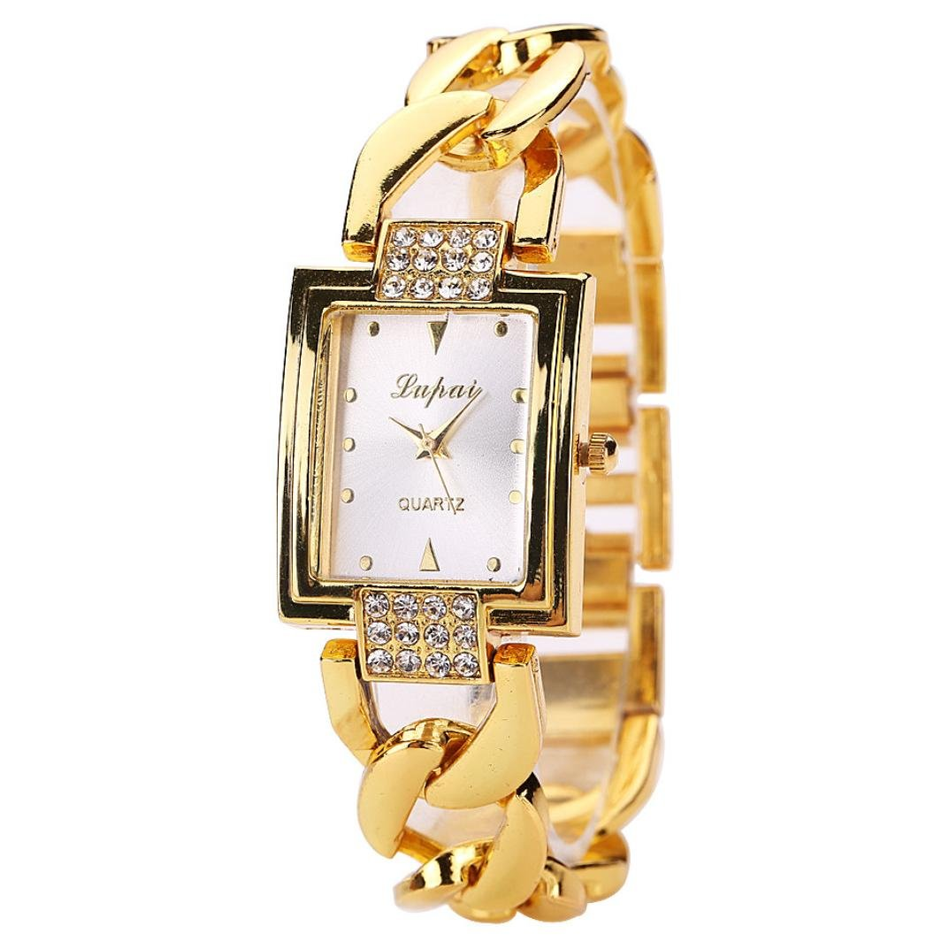 Amazon.com: Womens Watch,Elegant Lady Bracelet Montre Watch Cutout Crystal Wrist Watch Axchongery (Gold): Cell Phones & Accessories