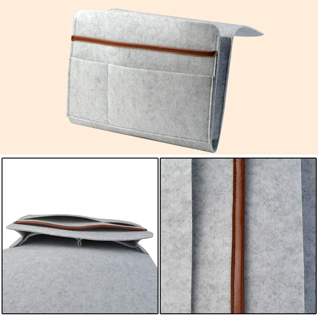 Verres t/él/éphone Portable Gris Magazines Jmkcoz Sac de Couchage en Feutre /épais antid/érapant pour Livres