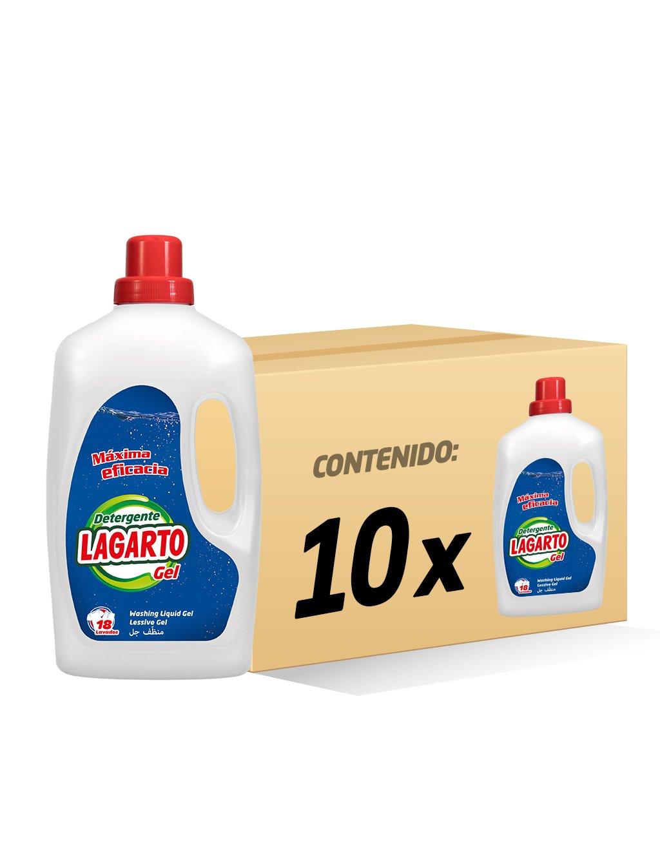 Lagarto Botella Detergente Lavadora Liquido - Gel - 18 Lavados - Paquete de 10 x 1260 ml - Total: 12600 ml: Amazon.es: Salud y cuidado personal