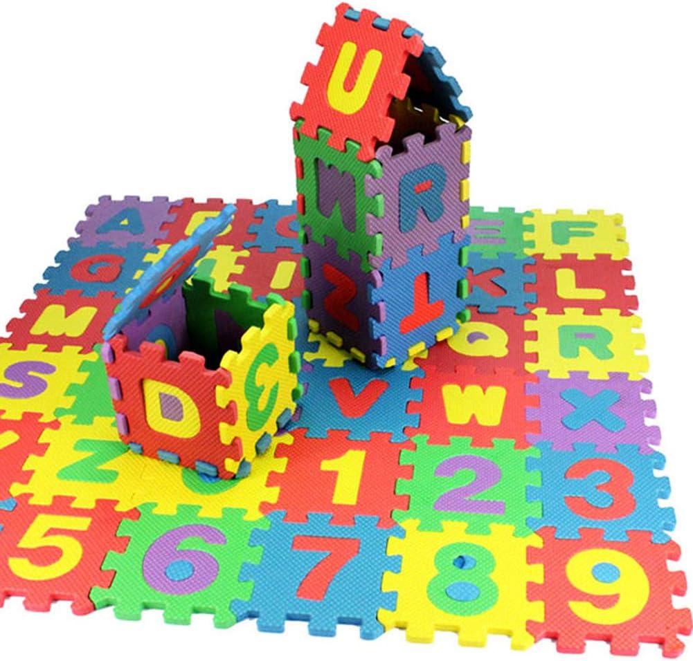tappetino in schiuma morbida gioco alfabeto numeri DIY puzzle Carpet Pad pavimento UxradG 36/pz//confezione per bambino Jigsaw