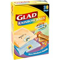 Glad Rainbow Sandwich Bags, 30s