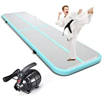 KUOKEL Airtrack Tumbing Mat Inflatable Gymnastics Air Track Flooring Mat with Eletric Air Pump for Gym/Yoga/Training/Kids/Tumbling/Park/Home use