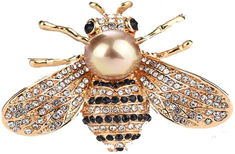 Brosche Biene fliegendes Insekt gold