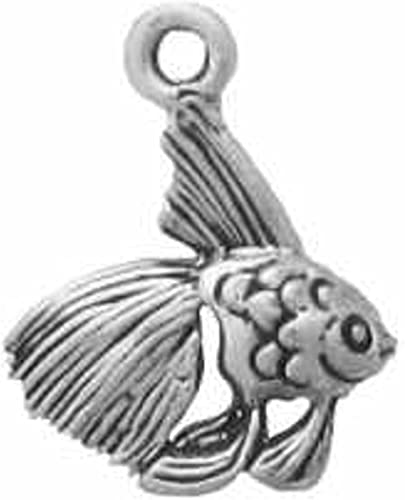 Sterling Silver Girls .8mm Box Chain Detailed Angel Fish Pendant Necklace