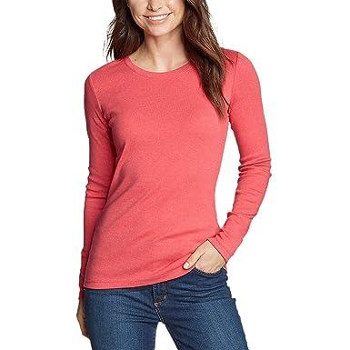 23689c418 Eddie Bauer Women s Favorite Long-Sleeve Crewneck T-Shirt at Amazon ...