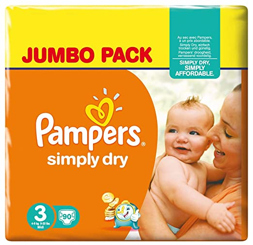 728 opinioni per Pampers Simply Dry, 180 Pannolini,